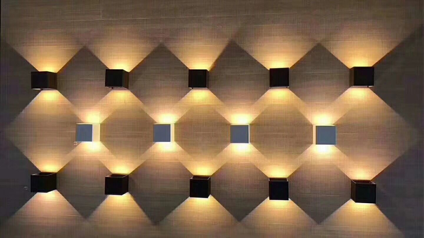 Alu+PMMA material indoor wall mounted 10w LED wall light