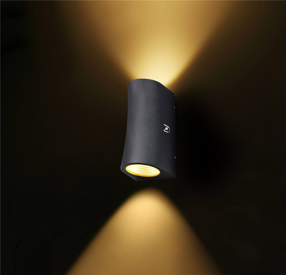 Hot sale 12w black up and down wall light LL031606