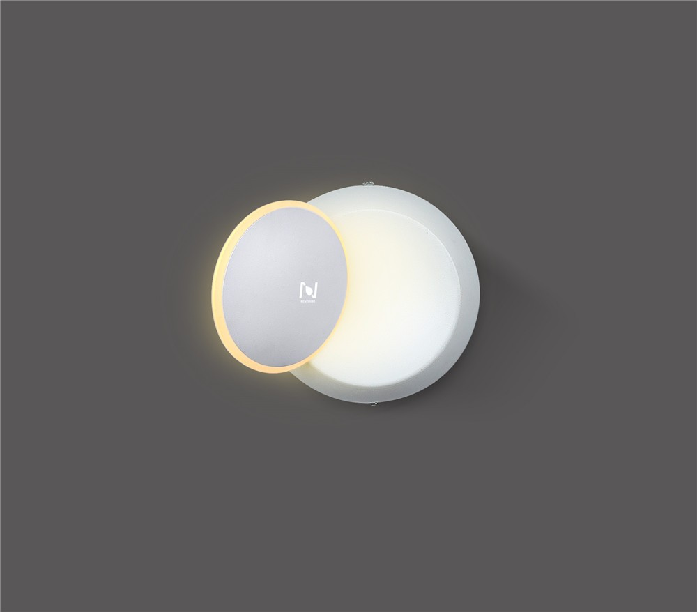 Hot sale white color solar eclipse wall light LL31112