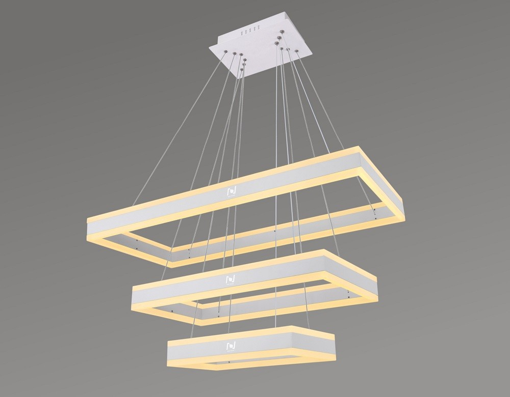 Led architectural lighting solutions Led rectangular chandelier LL0210UDS-80W