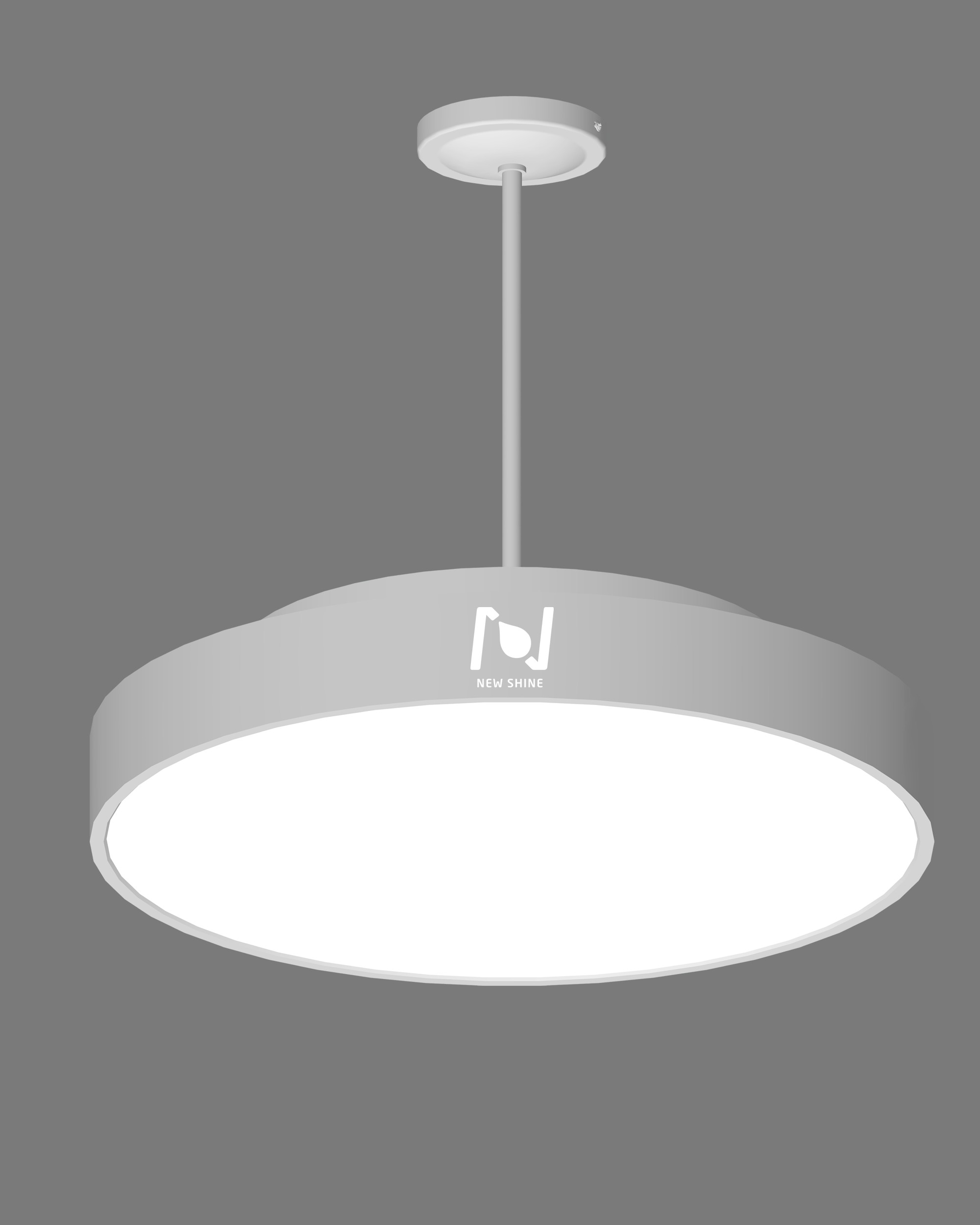 Circle suspended architectural LED light fixture circular lighting LL0112S-40W