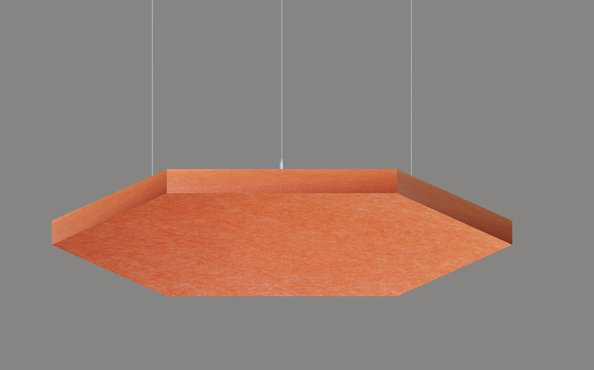 HEX pendant acoustic panels architectural lighting manufacturers LL0304SAC-450