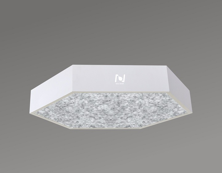 Hexagon LED acoustic light surface mounted office lighting LL0186MAC-600