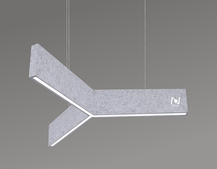 New design led acoustic Y shape linear architectural lighting LL0190SAC-40W
