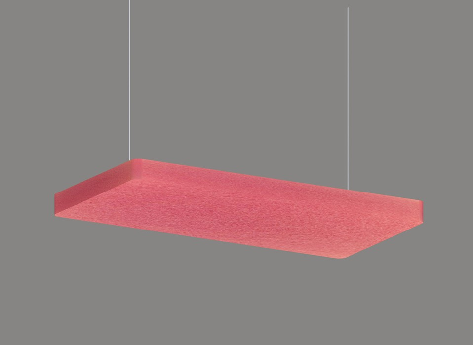 Rectangle acoustic ceiling panel decorative lighting  LL0303SAC-6024