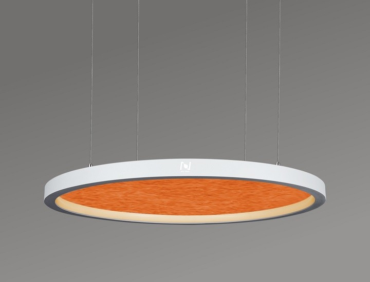 Suspended acoustic inner emitting architectural circle lights LL0125SAC-80W