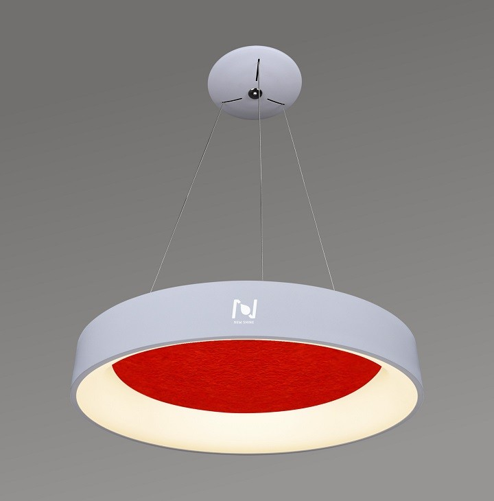 Hanging LED acoustic light round architectural lighting solutions LL0201SAC-25W