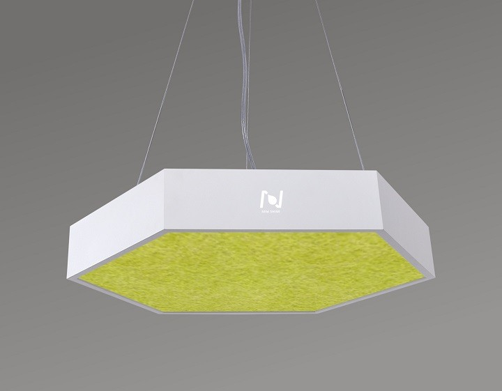 LED acoustic hexagon panel light pendant LL0186SAC-900