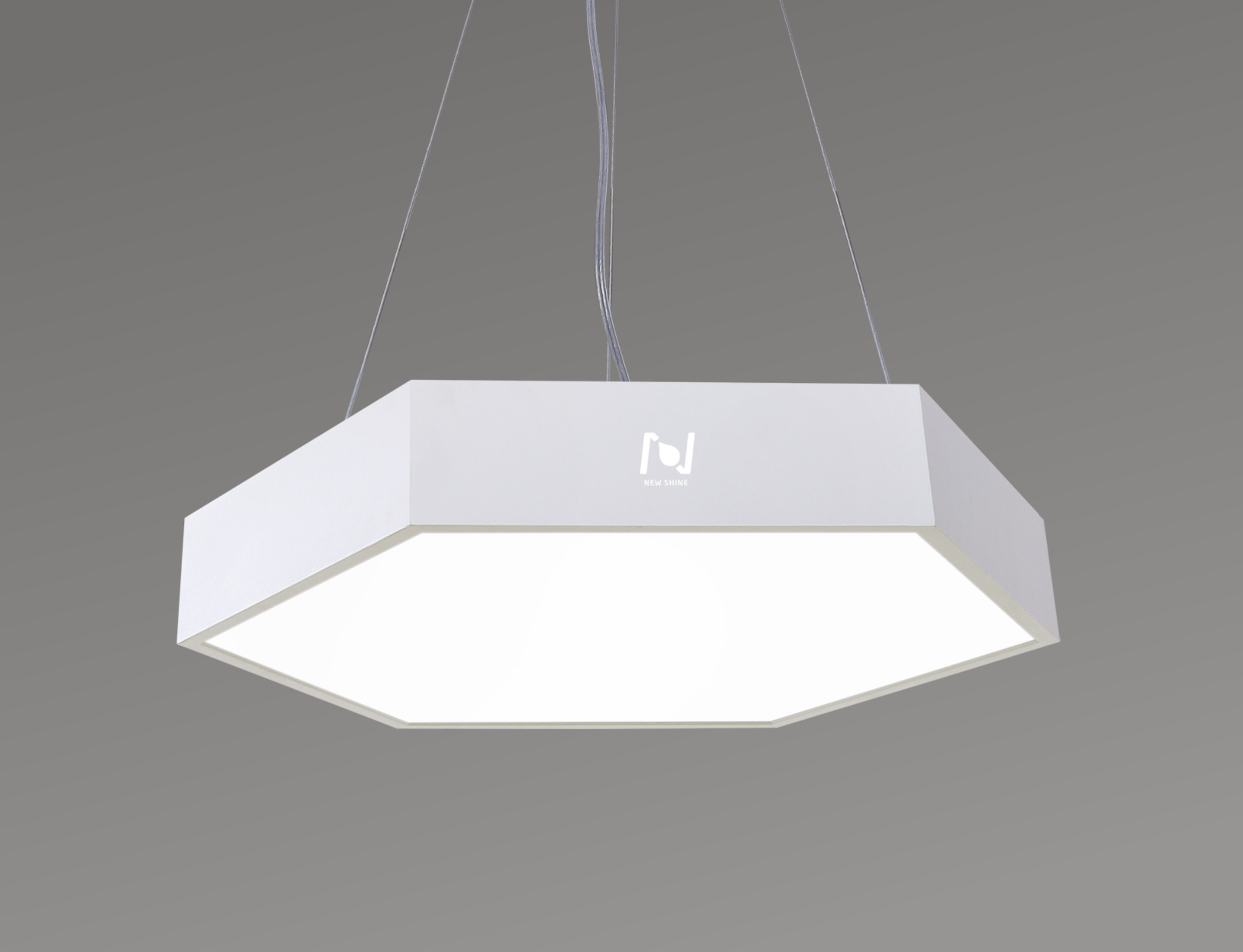 Suspended Hexagon LED Panel Light Commercial Lighting LL0186S-25W