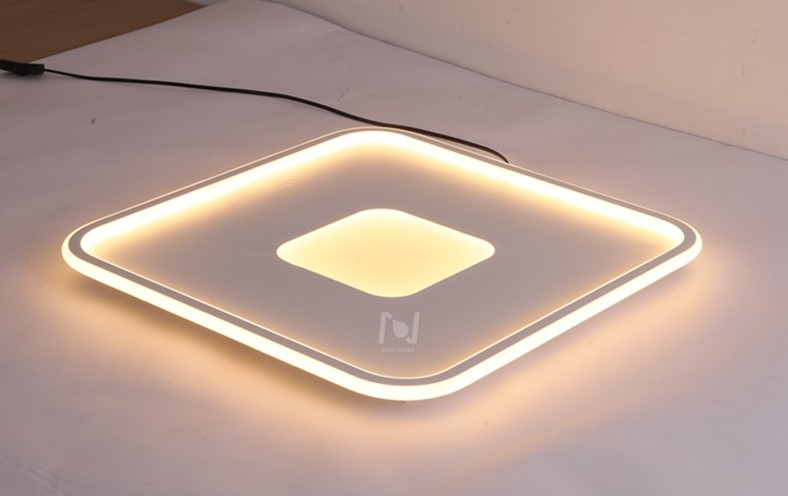 LED slim ceiling lights square Cloud Series LL0214BM-90W