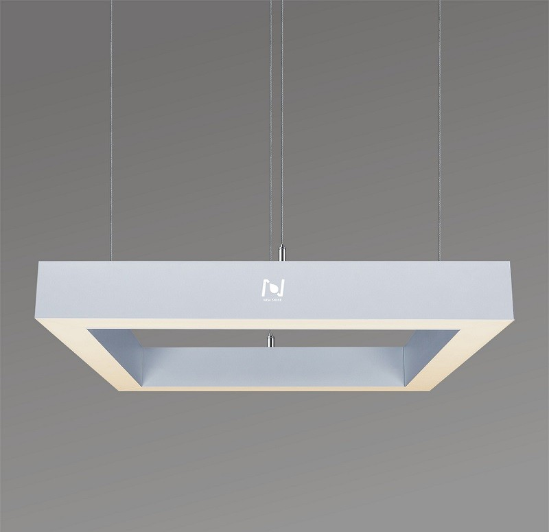 Modern square pendant architectural lighting frame light LL0116S-320W