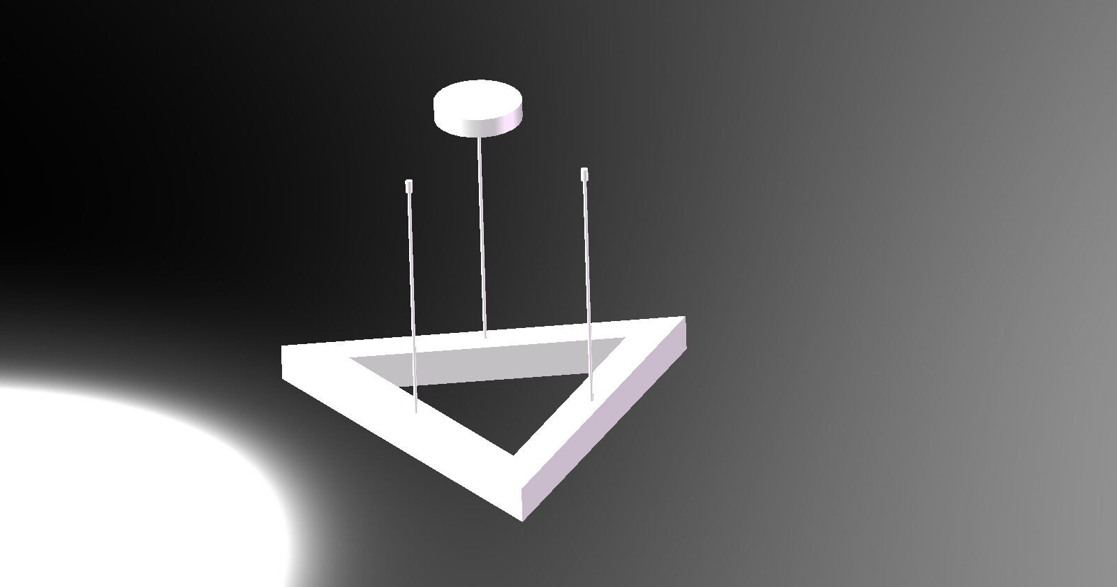 TRIANGLE LED DECORATIVE LIGHT WITH SUSPENDED WAY LL018890S-90W