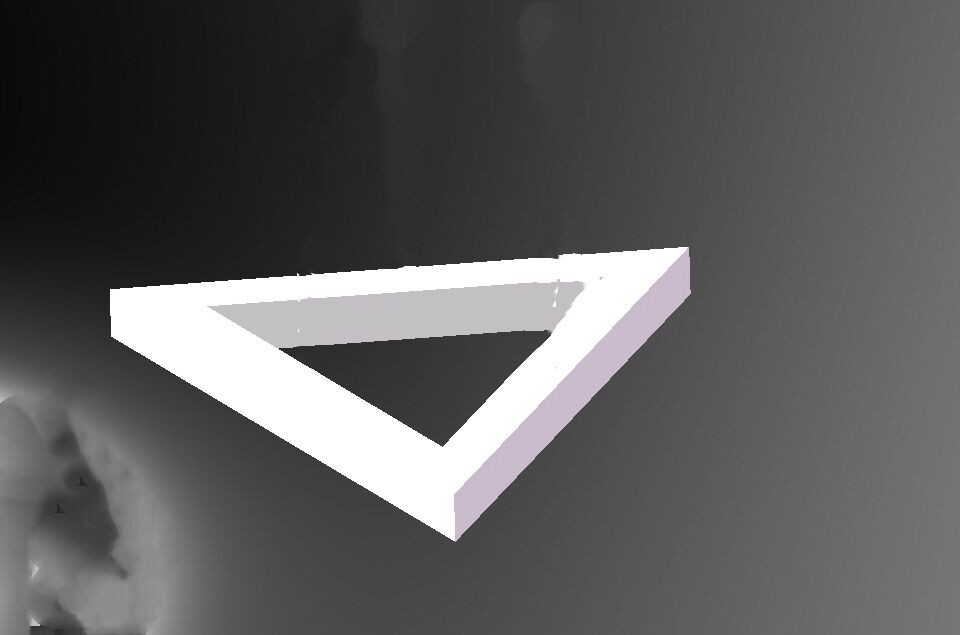 Triangle LED Frame Lights Surface Mounted Lighting LL018825M-25W