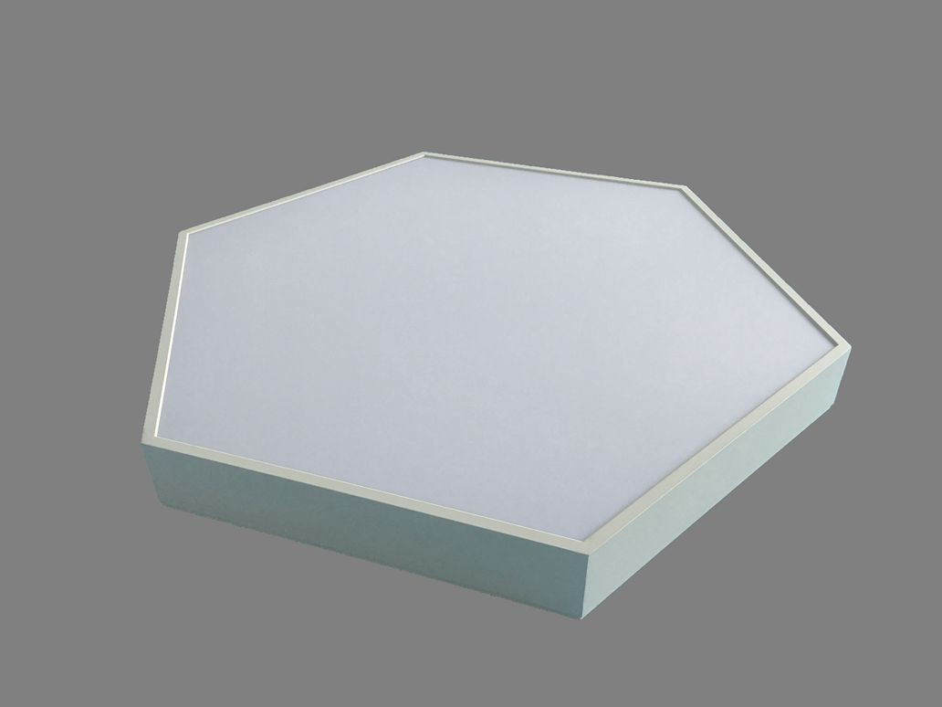 Direct Indirect Lighting Hexagon LED Panel Light Suspended LL018680SUD-80W