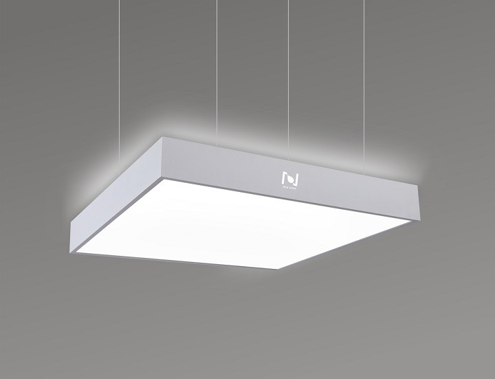 Direct indirect square pendant panel light commercial lighting LL0185UDS-50W