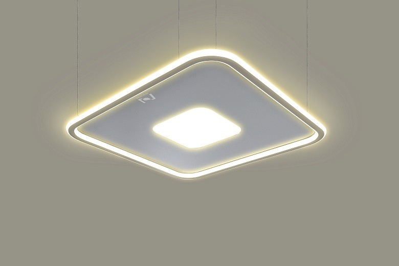 Square ceiling pendant architectural lighting Cloud Series LL0214BS-90W