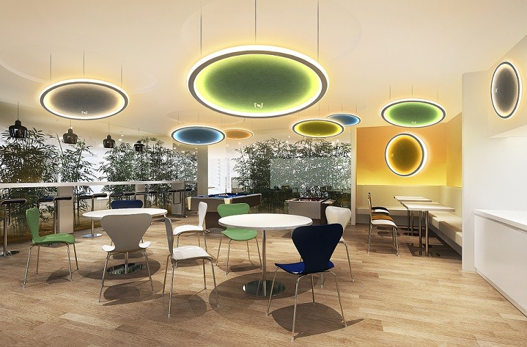 Cloud series LED acoustic ceiling light architectural lighting LL0213ASAC-135W