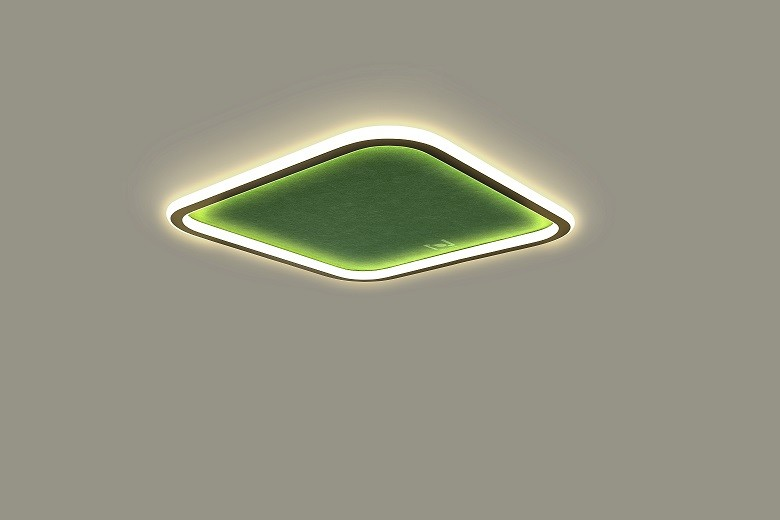Led mounted square acoustic architectural lighting solutions LL0214AMAC-50W