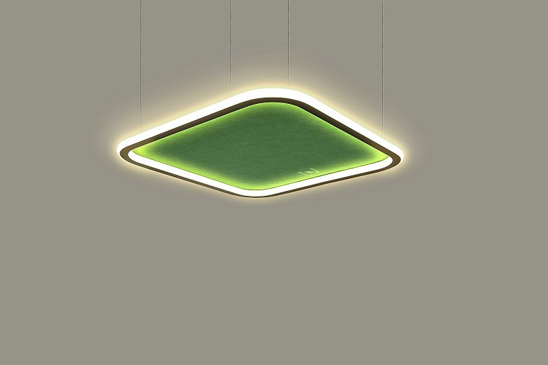 Suspended square acoustic architectural lighting solutions LL0214ASAC-100W