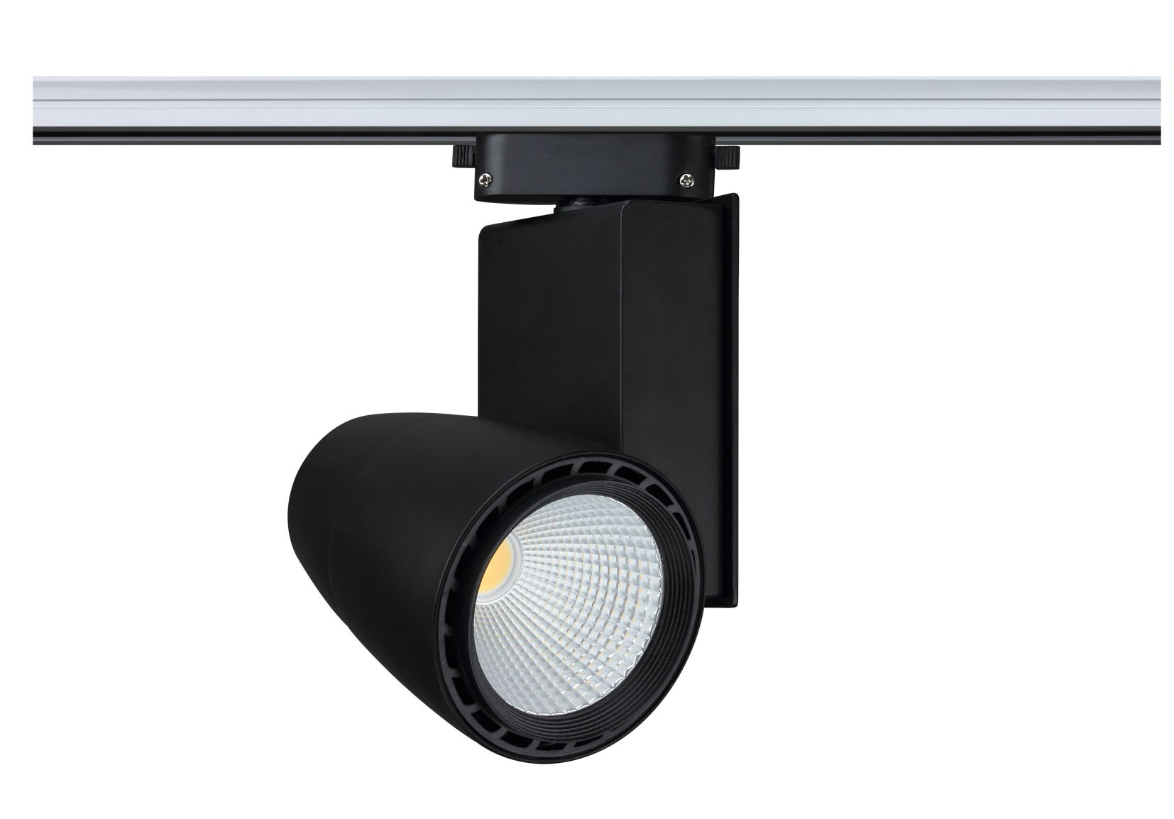 Exhibition Showroom Shop Lighting Black Aluminium COB Led track light LL0503