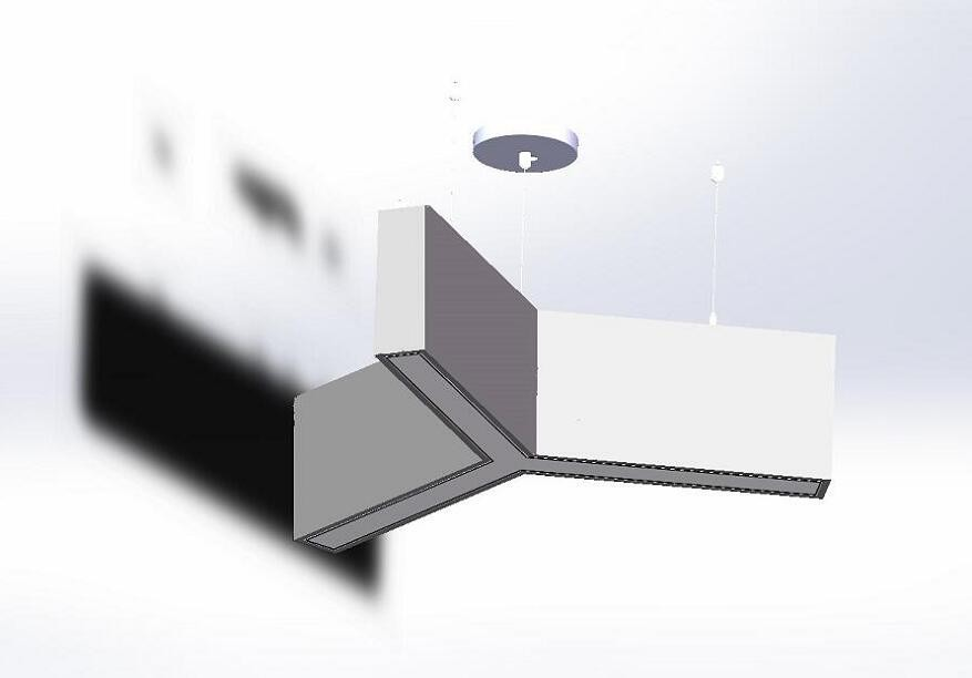Suspended Y shape acoustic linear light LL0190AC80S-80W