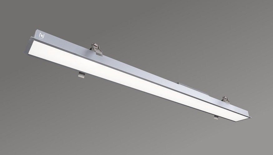 Aluminum linear profile recessed office lights LL0147R-1500