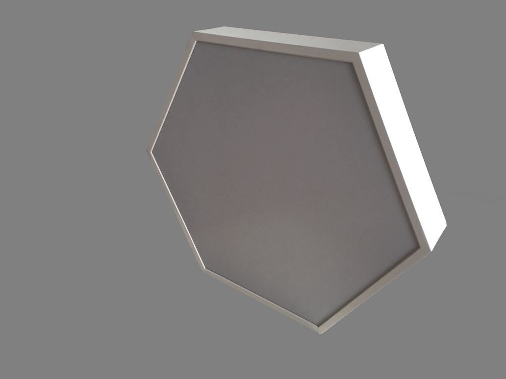 Up And Down Light Hexagon LED Panel Lighting Surface Mounted LL018680MUD-80W