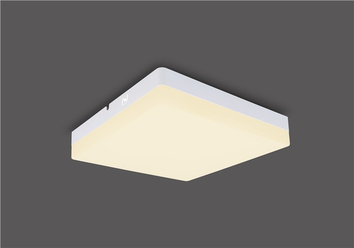 Unique design IP54 square surface mounted led ceiling light LL018320M-20W