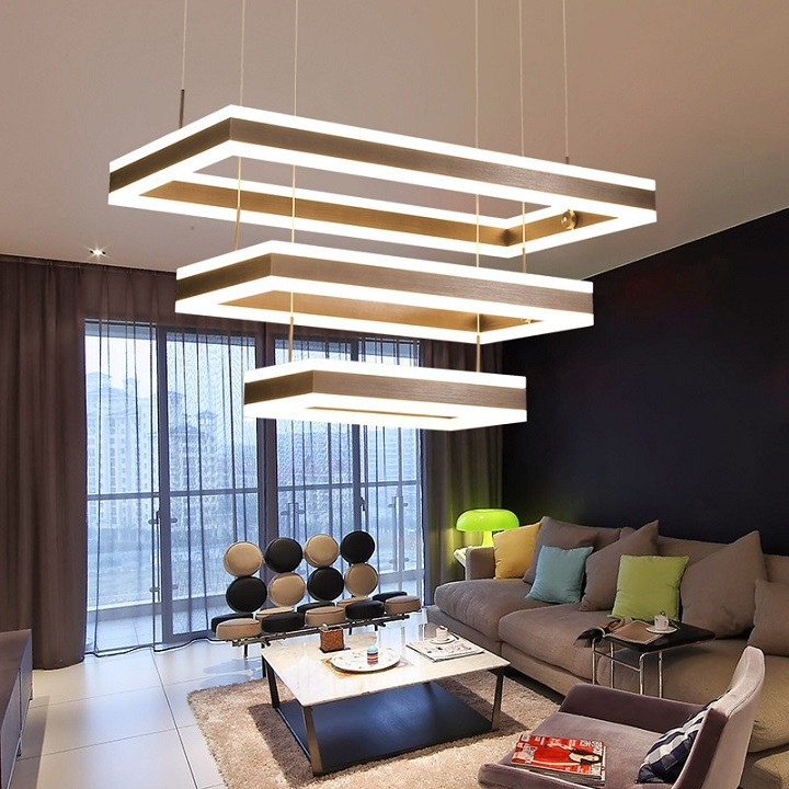 Direct indirect rectangle pendant lamp LL0210100S-100W