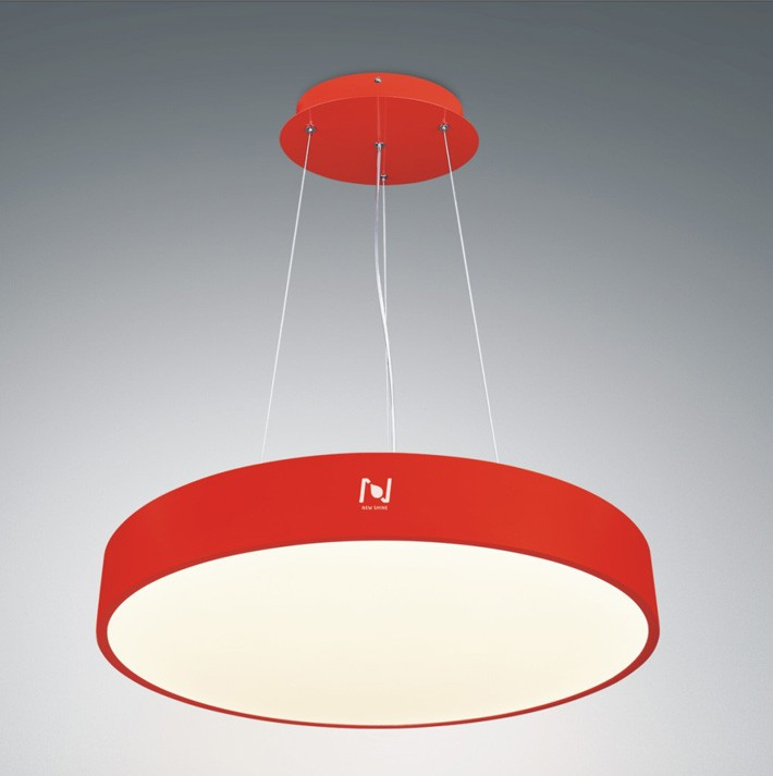 Round architectural pendant lighting LL0112S-40W-RED